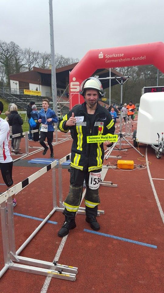 Quelle: Facebook Seite Bienwald Marathon Kandel Weltrekordler Lars Kegler
