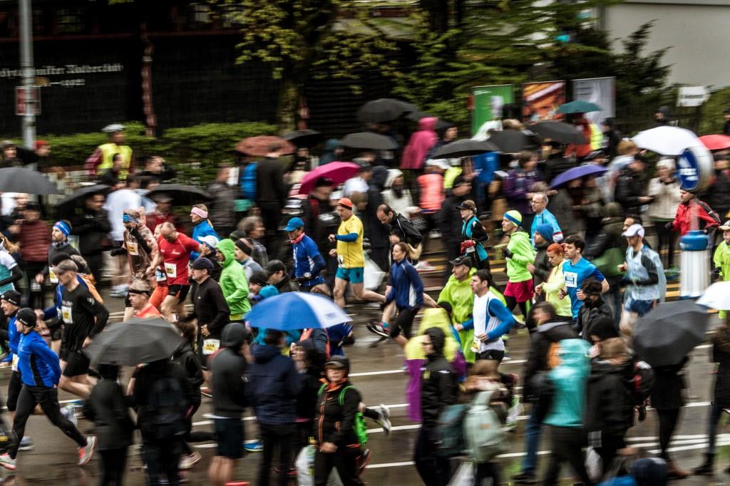 Teilnehmer am Zurich Marathon 2016 der Kategorie City Run.